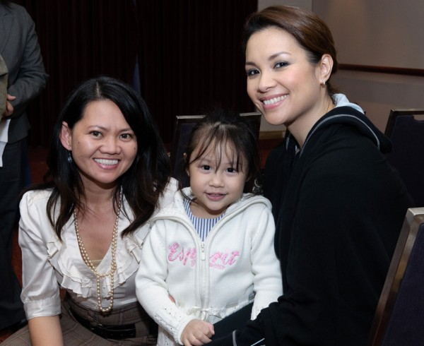With Lea Salonga and daughter Nicole