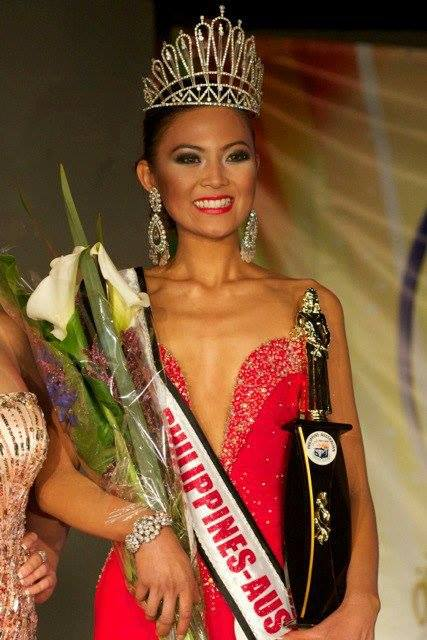 Joanna Cubelo won the 2012 Miss Philippines Australia pageant
